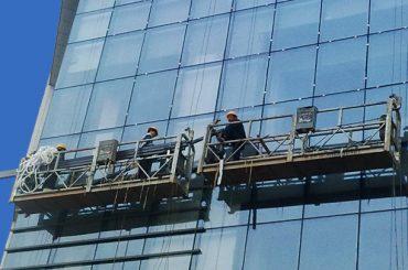 100m - 300m suspendus des plateformes d'accès 220v pour la peinture de bâtiment de grande hauteur