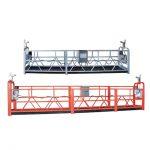 10m acier / aluminium suspendu zlp1000 équipement d'accès pour 3 personne travaillant