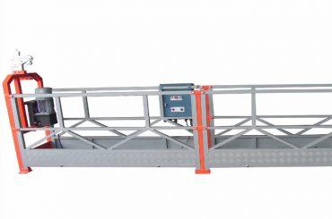 1000 kg 2,5 m * 3 sections suspendues zlp1000 équipement d'accès avec serrure de sécurité 30kn