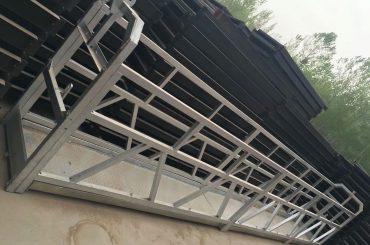 alliage d'aluminium de forme de zlp630 / 800 ll, construction en acier suspendue ascenseur de plate-forme de fonctionnement sur des fenêtres de construction
