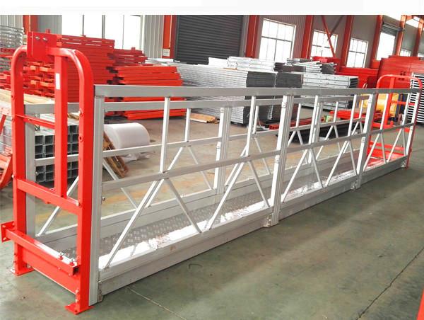 Plate-forme de travail suspendue de 2 sections 500kg avec 3 types de contre-poids
