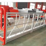 alliage d'aluminium suspendu systèmes d'échafaudage 1000 kg 2,2 kw pour le nettoyage de vitres