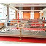 Plate-forme suspendue en aluminium zlp630 (ce iso gost) / équipement de nettoyage de vitres en hauteur / nacelle temporaire / berceau / étage pivotant à chaud