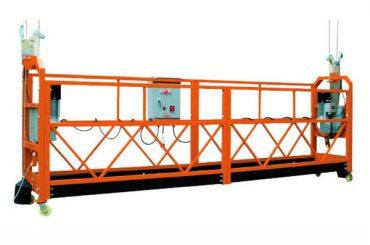 2.5mx 3 sections 1000kg a suspendu la vitesse de levage de plate-forme d'accès 8-10 m / min