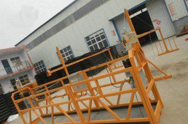 Plate-forme de fonctionnement suspendue par acier fiable de peinture ZLP630 pour la construction de bâtiments (2)