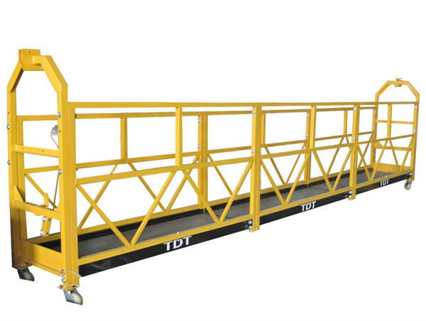 La plate-forme 1.5KW 380V 50HZ suspendue par corde en acier / galvanisée à chaud d'alliage d'aluminium