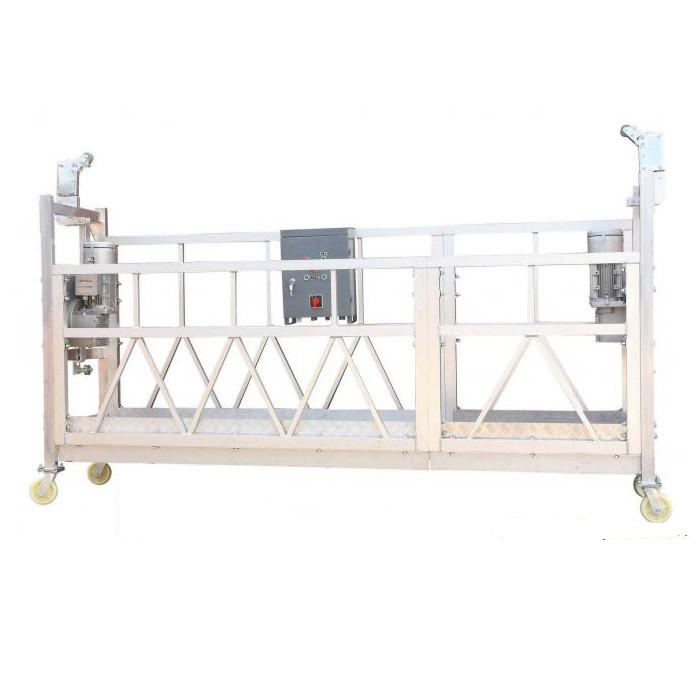 La plate-forme de fonctionnement suspendue par aluminium ZLP630 galvanisée à chaud peinte par acier pour la peinture de façade de bâtiment