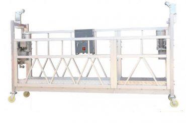 acier peint / galvanisé à chaud / zlp630 en aluminium a suspendu la plate-forme de travail pour la peinture de façade de bâtiment