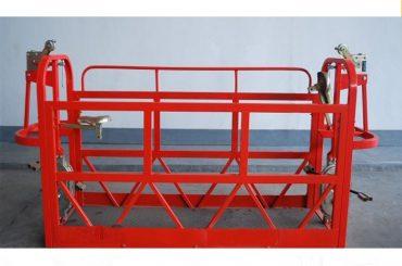 800kg peint / aluminium suspendu la plate-forme d'échafaudage de puissance du moteur 1.8kw de plates-formes d'accès