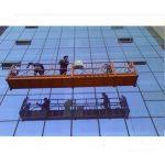 la corde de construction forte a suspendu la plate-forme avec la serrure de sécurité 30kn zlp1000 2.2kw 2.5m * 3