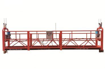 acier / plate-forme suspendue temporaire galvanisée à chaud, berceau de maintenance zlp500