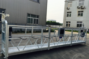 la corde réglable d'alliage d'aluminium a suspendu la plate-forme zlp 800 pour remettre en état / peindre
