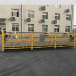 en aluminium peint a suspendu la plate-forme de câble métallique 500kg / 630kg / 800kg / 1000kg