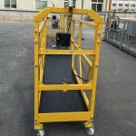 Plate-forme de câble métallique suspendue temporairement de 7,5 m pour la construction