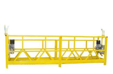 berceau de plate-forme suspendu en acier / aluminium, équipement d'accès suspendu de 630kg